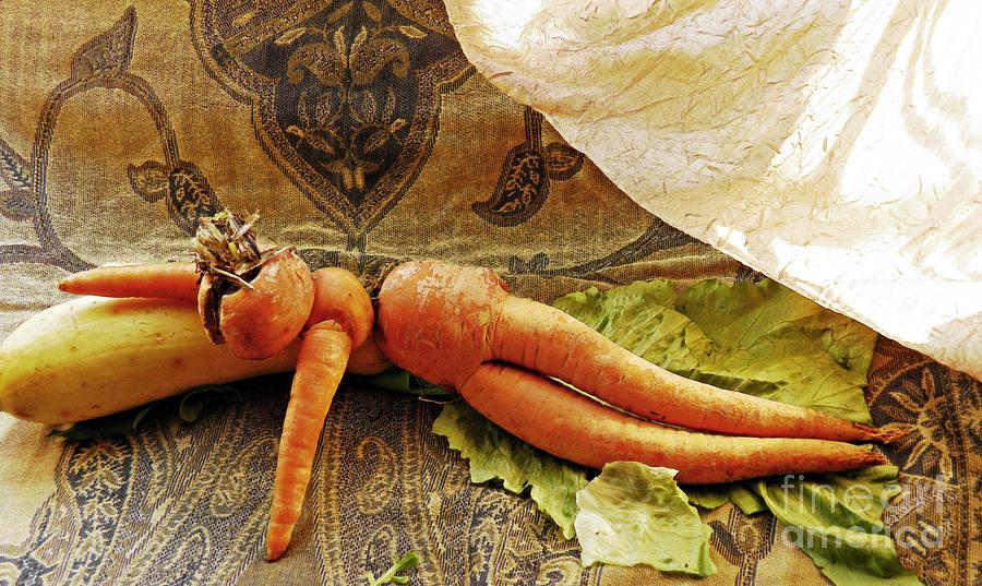 Reclining Nude Carrot Photograph  - Reclining Nude Carrot Fine Art Print