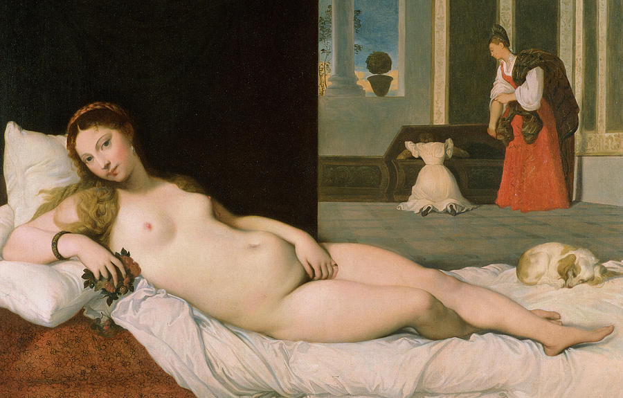 Reclining Venus Painting
