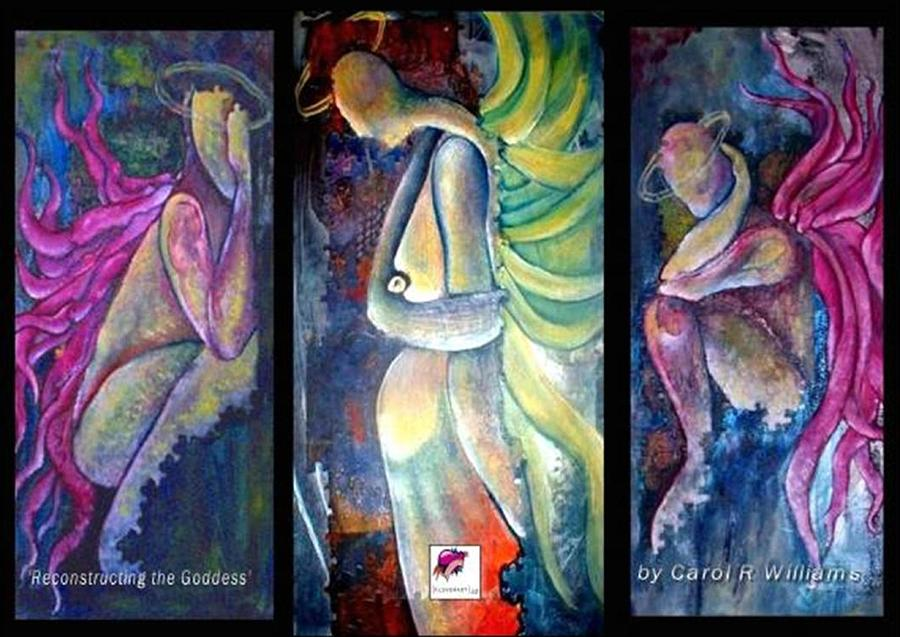 Goddess Painting - Reconstructing The Goddess by Carol Rashawnna Williams