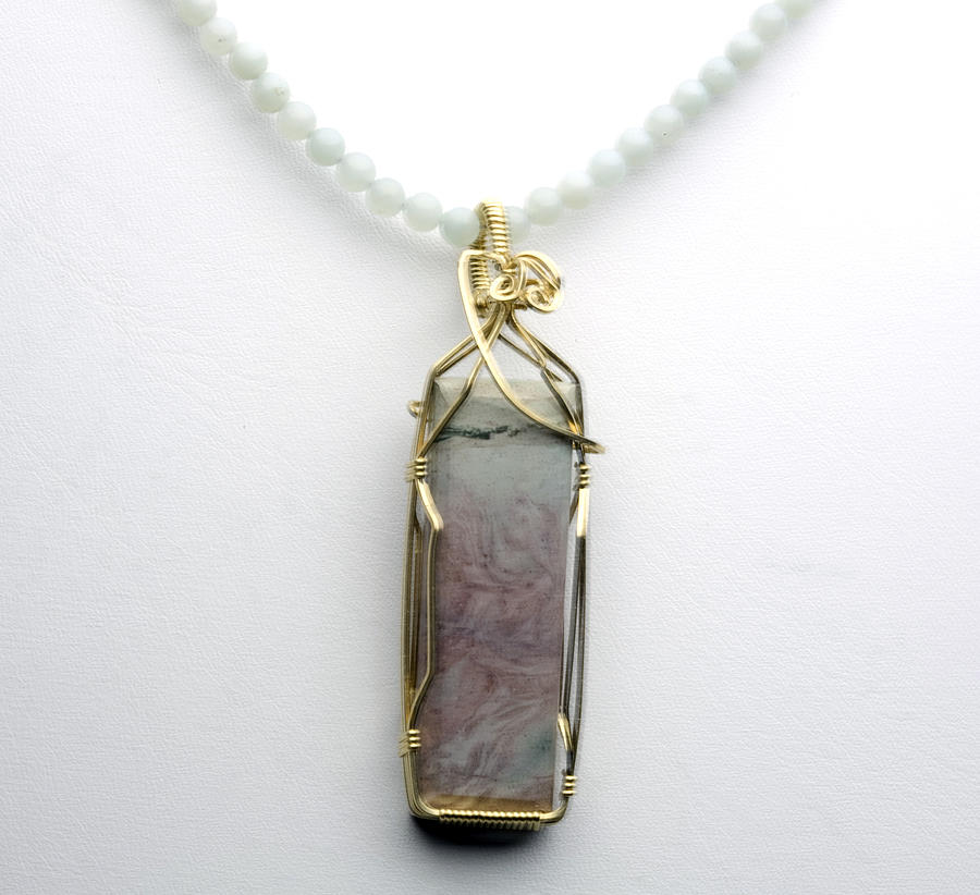 Rectangle Stone Necklace Jewelry  - Rectangle Stone Necklace Fine Art Print