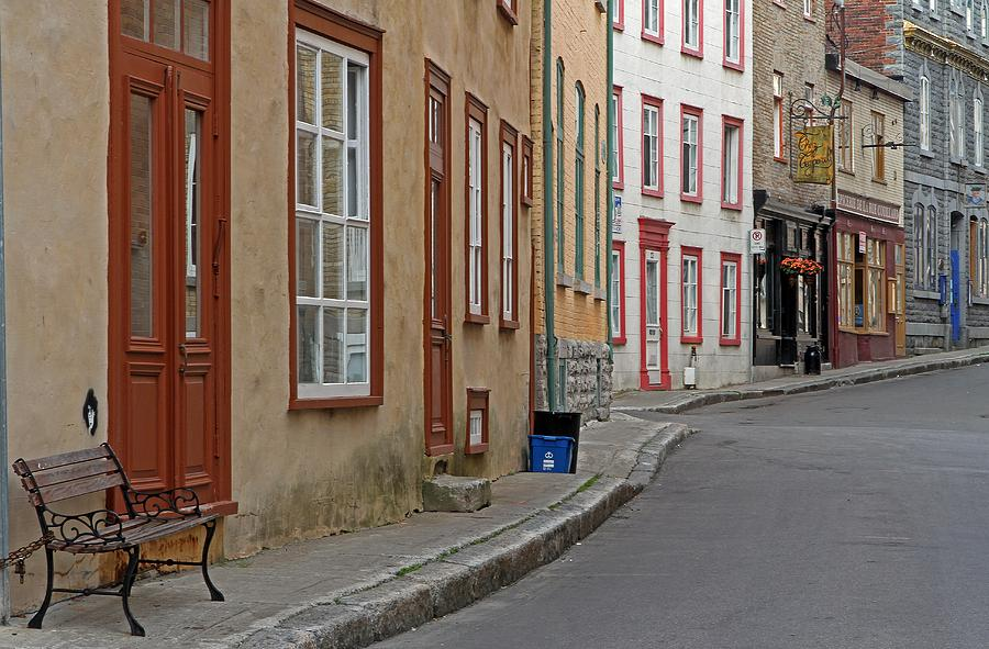 Recycling On Rue Couillard In Quebec City Photograph