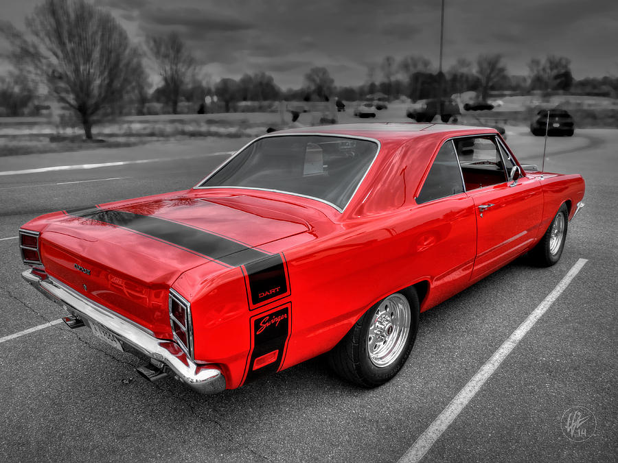 Srt Dodge Dart >> Red '69 Dodge Dart Swinger Photograph by Lance Vaughn
