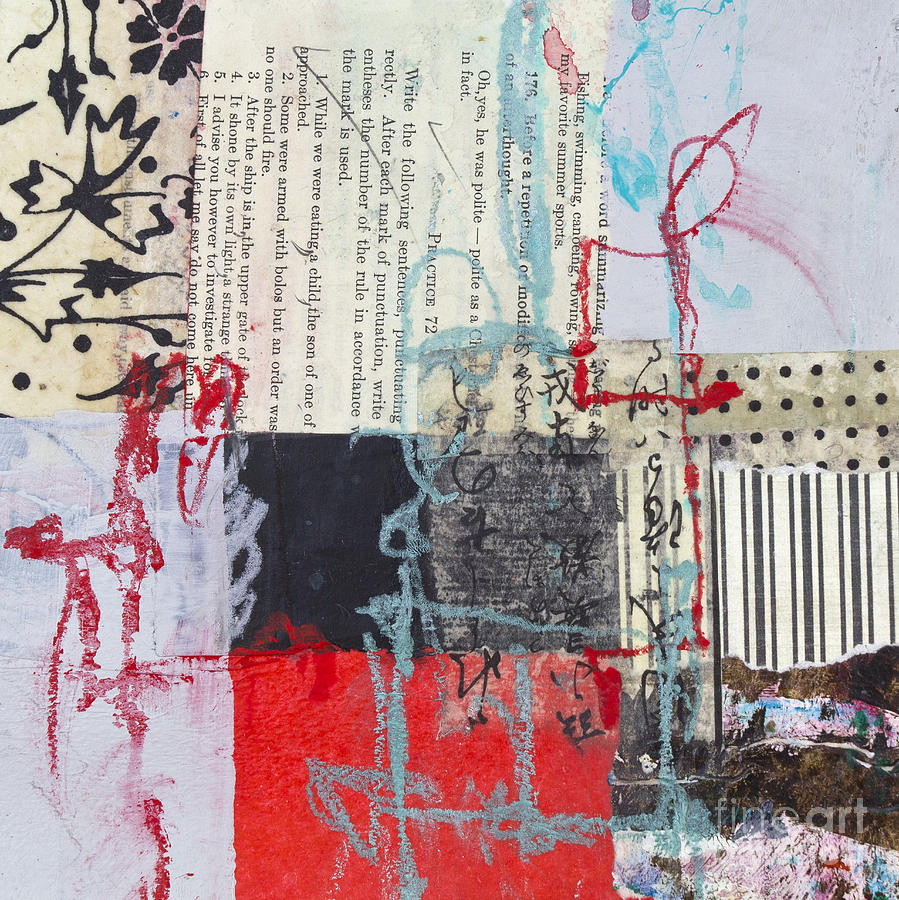 Red And Black Mixed Media