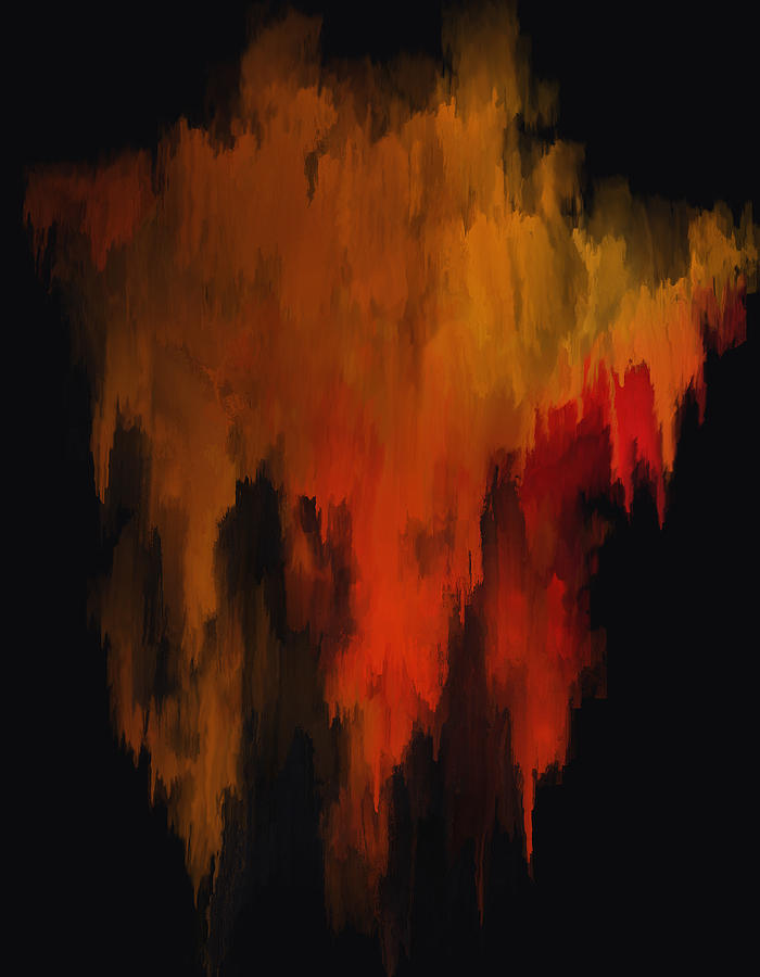 Red And Gold 1 Painting