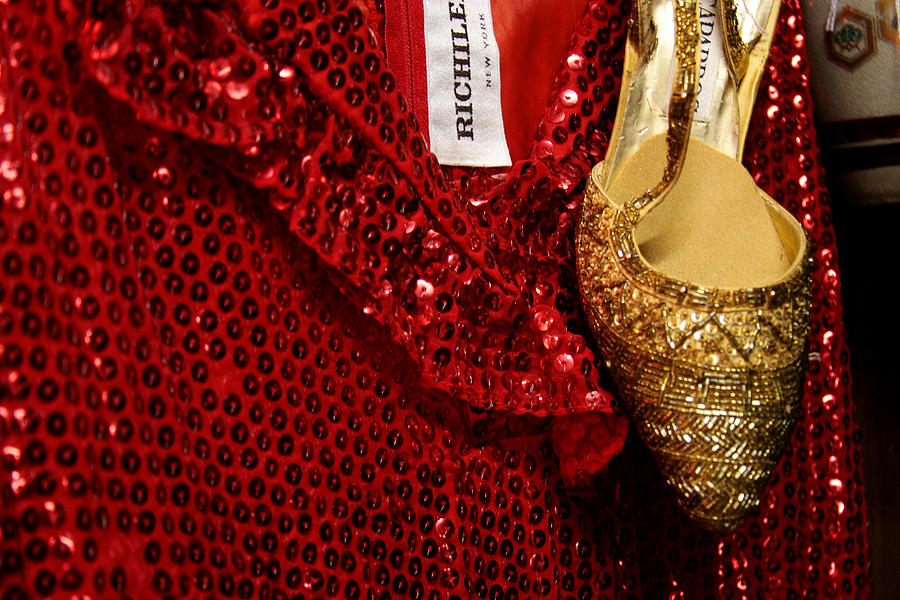 Fashion Photograph - Red And Gold Holiday by Toni Hopper