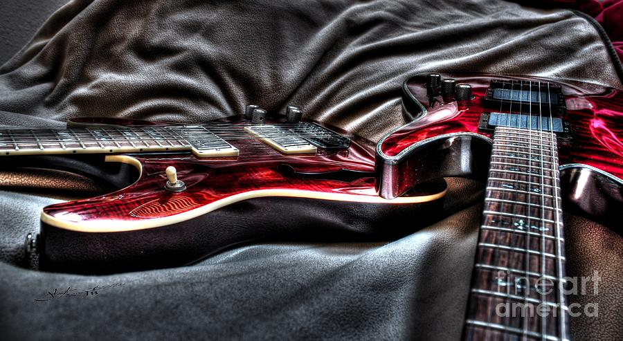 Red And Ready Digital Guitar Art By Steven Langston Photograph