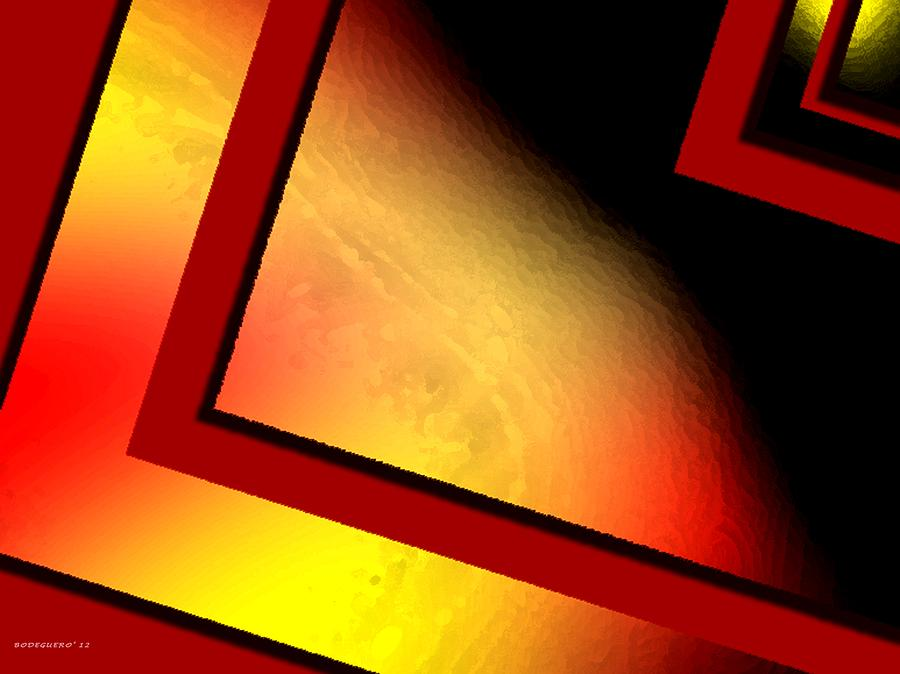 Digital Art Digital Art - Red Angle With Yellow by Mario Perez