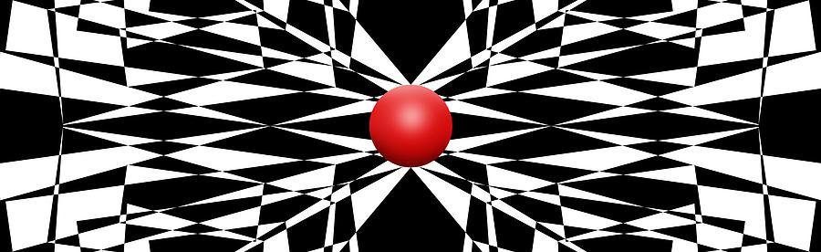 Red Ball 16 Digital Art