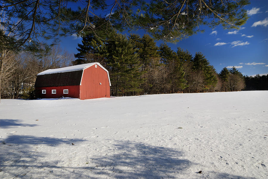 Red Barn In Hollis Photograph
