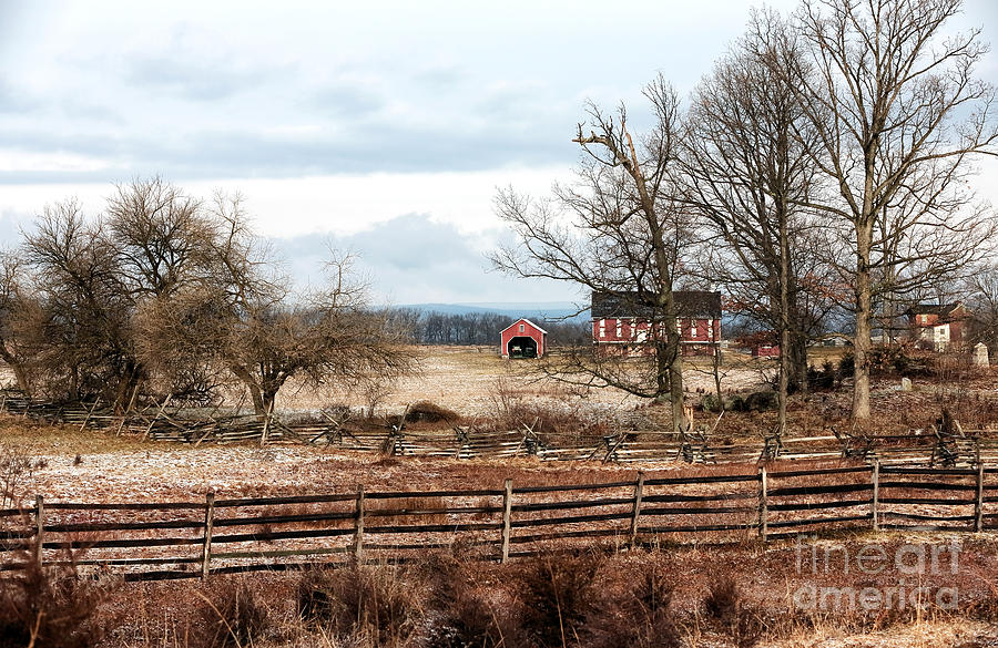 Red Barn In The Field Photograph