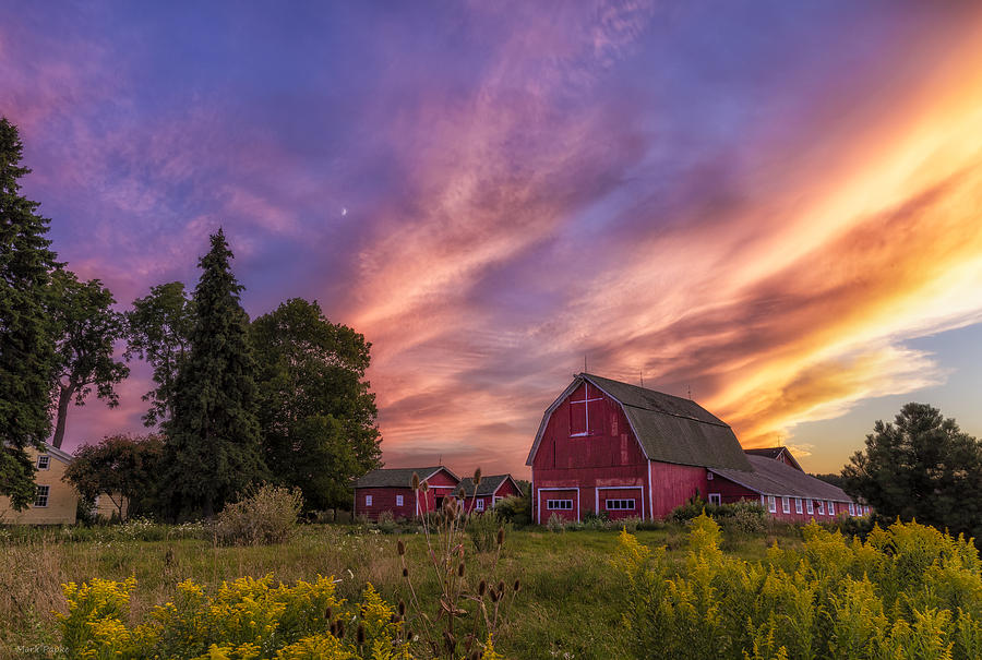 Red Barn Sunset 2 Photograph By Mark Papke
