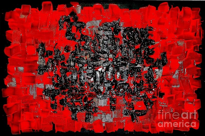 Red Black Red  Painting