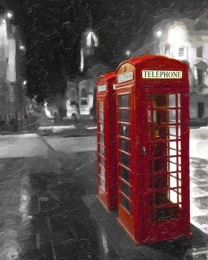 Red British Phone Box On The Streets Of Edinburgh Photograph  - Red British Phone Box On The Streets Of Edinburgh Fine Art Print