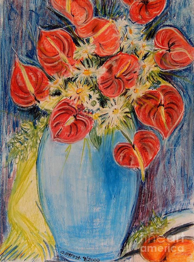 Red Calla Lilies Pastel