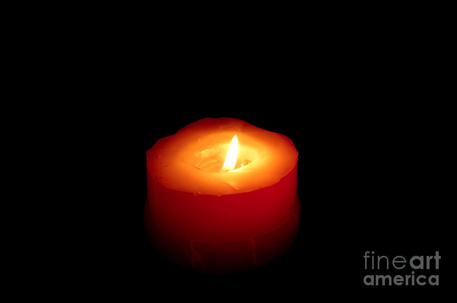 Red Candle Photograph  - Red Candle Fine Art Print