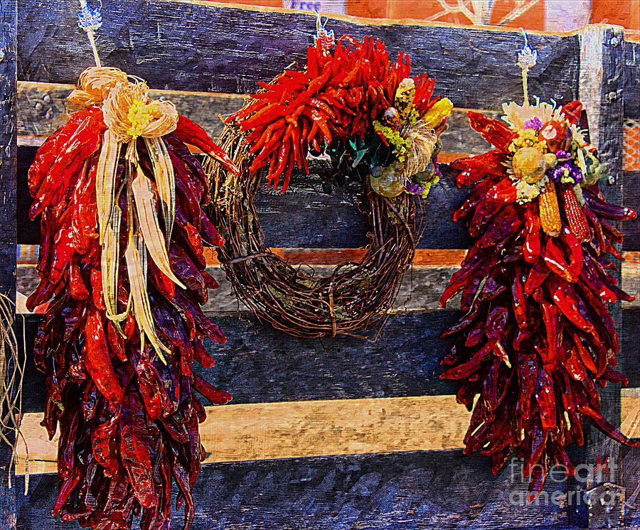 Red Chili Ristra Art Photograph  - Red Chili Ristra Art Fine Art Print