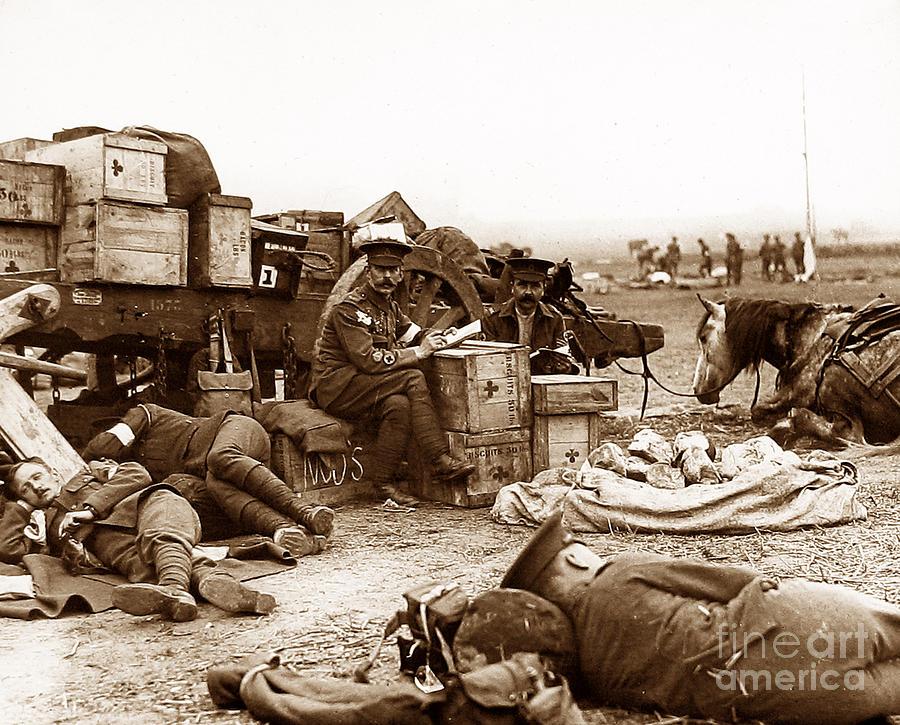 Red Cross Ambulance Men First World War Photograph by The ...