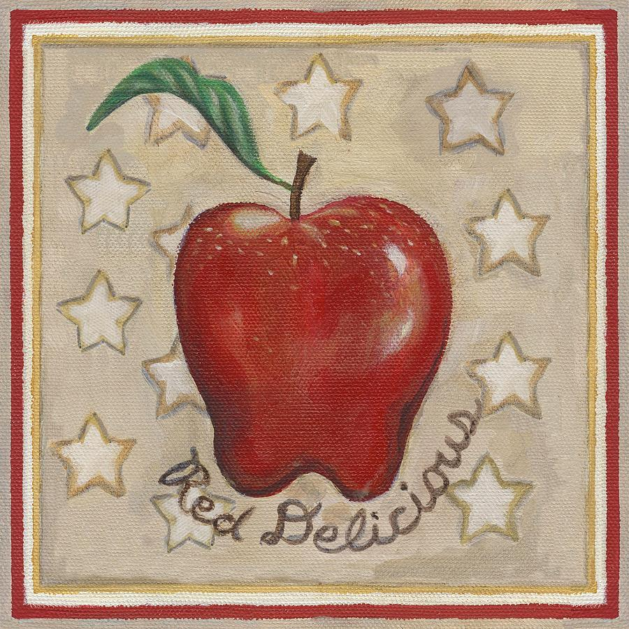 Red Delicious Two Painting  - Red Delicious Two Fine Art Print