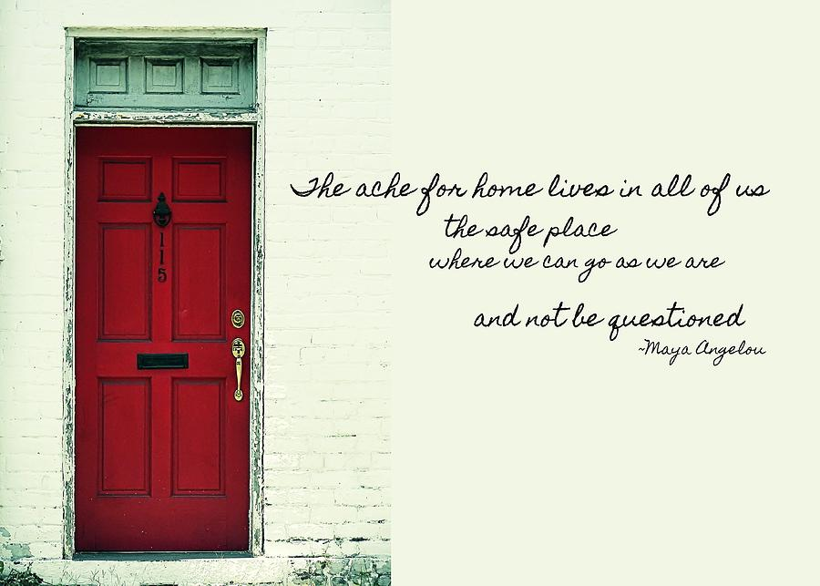 Red Door Quote Photograph  - Red Door Quote Fine Art Print