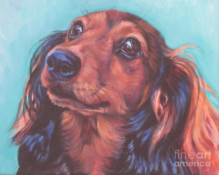 Red Doxie Painting