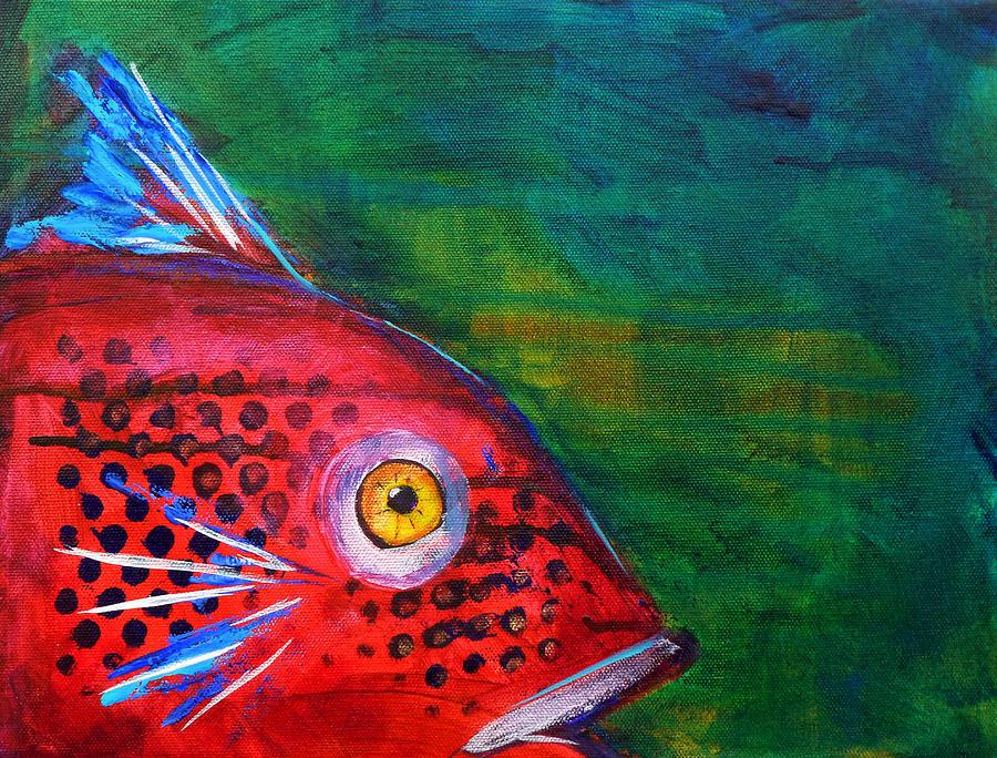 red fish painting by nancy merkle