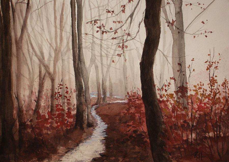Red Forest Painting  - Red Forest Fine Art Print