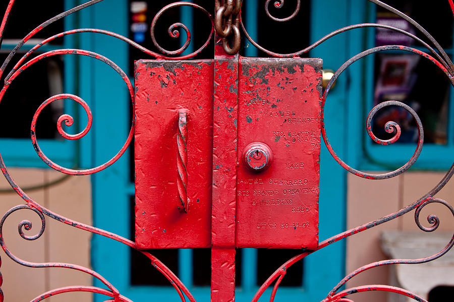Red Gate In Santa Fe Photograph  - Red Gate In Santa Fe Fine Art Print