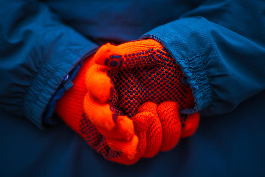 Abstract Photograph - Red Gloves - Featured 3 by Alexander Senin
