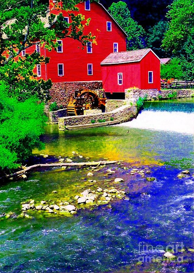 Red Grist Mill Photograph
