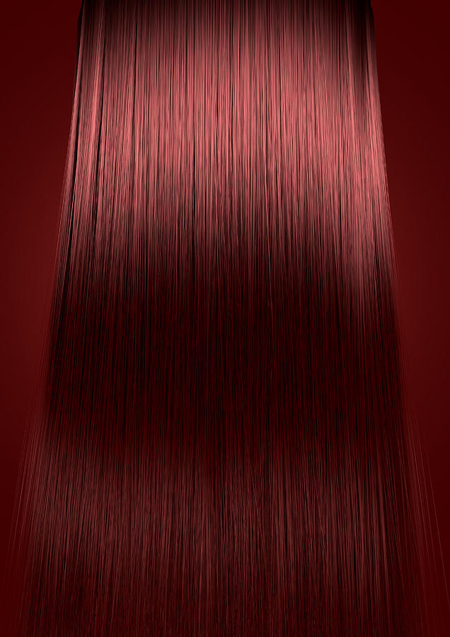 Red Hair Perfect Straight Digital Art