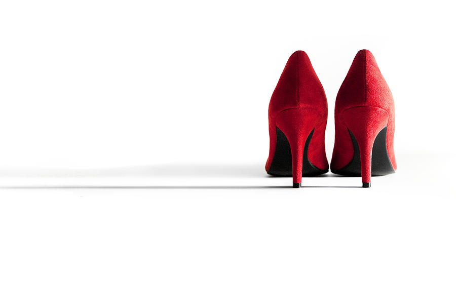 Red High Heel Shoes Photograph