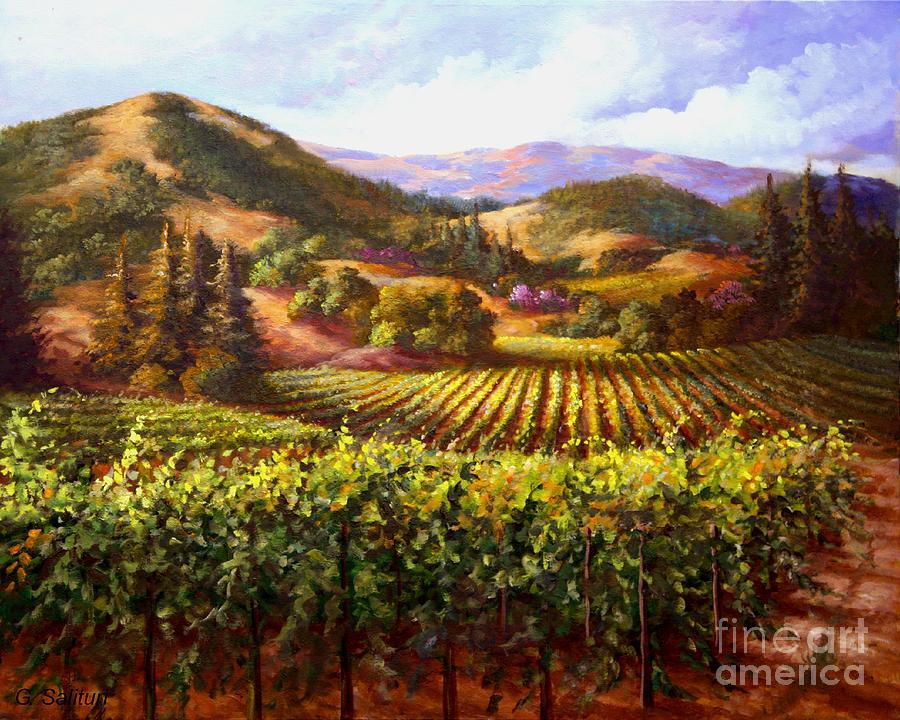 Red Hills Road Vineyard Painting By Gail Salituri