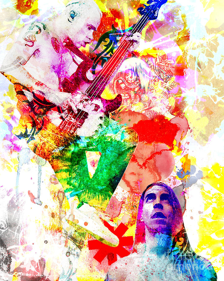 Red Hot Chili Peppers  Painting  - Red Hot Chili Peppers  Fine Art Print