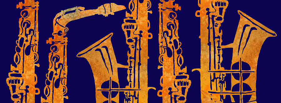 Red Hot Sax Keys Painting