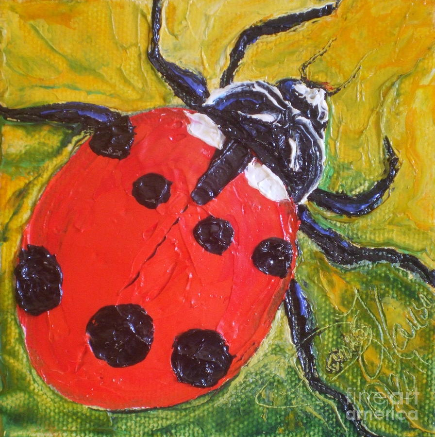 Ladybug Paintings Painting - Red Ladybug by Paris Wyatt Llanso