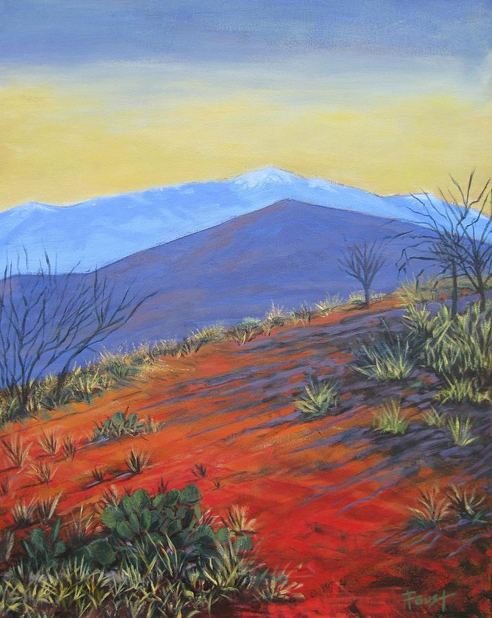 Red Landscape Painting  - Red Landscape Fine Art Print