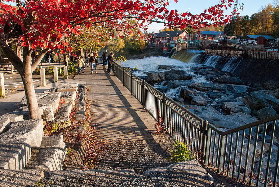 Red Leaves And Shelburne Falls Massachusetts Photograph