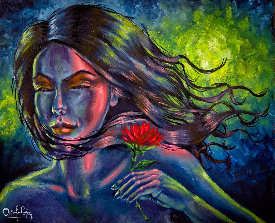 Red Lotus Painting