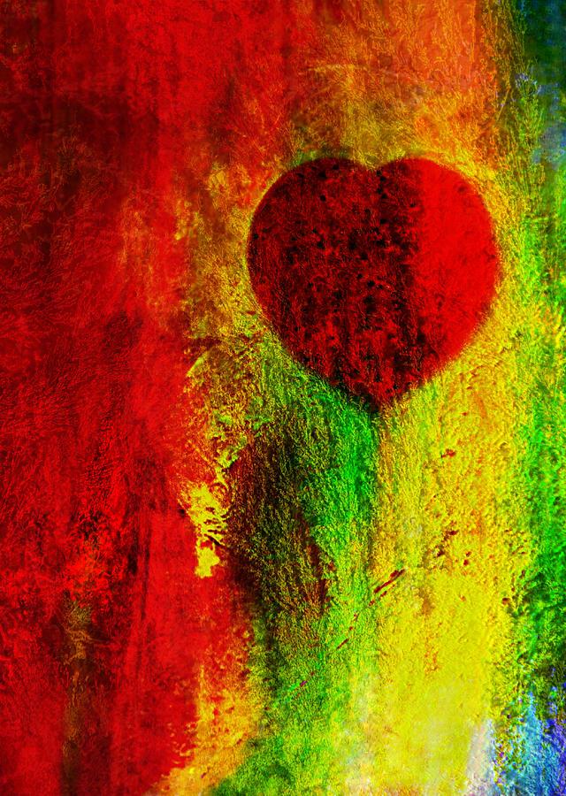 Red Love Digital Art