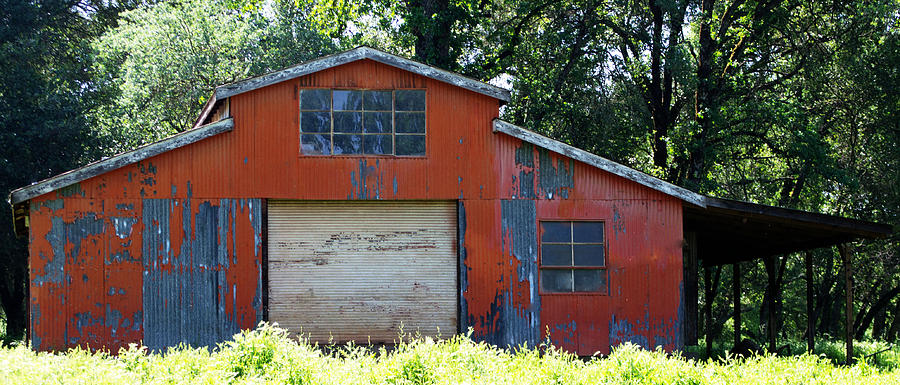 Red Metal Barn Photograph By Holly Blunkall
