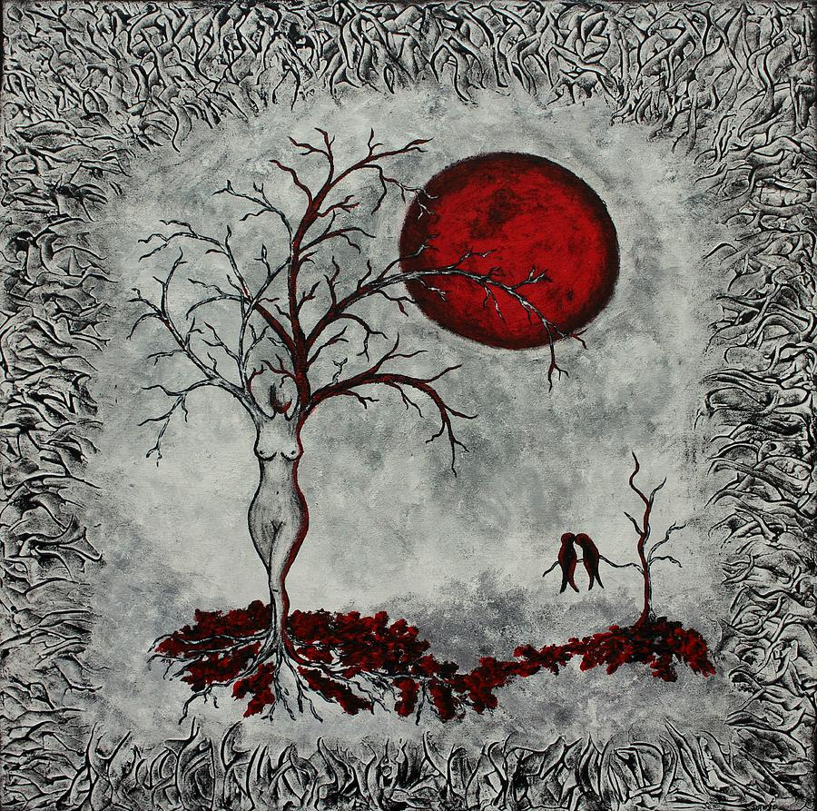 Red Moon Painting