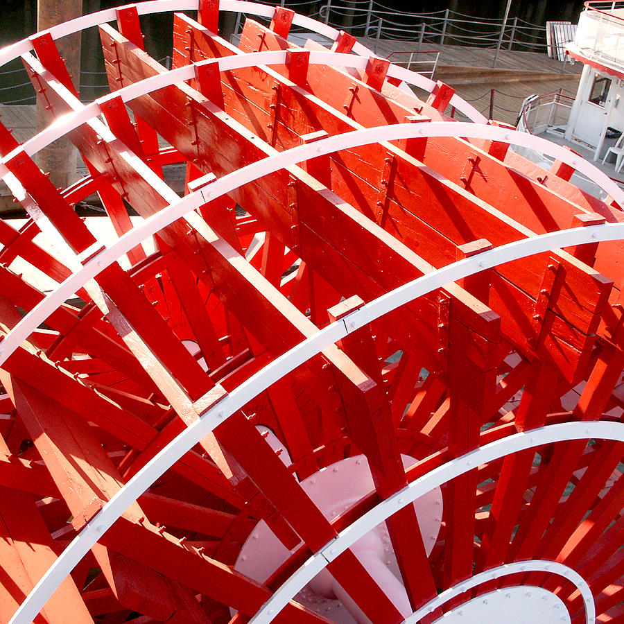 Red Paddle Wheel Photograph