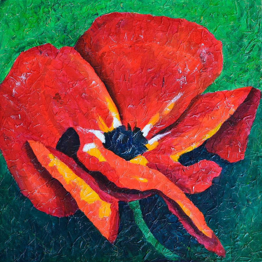 Red Poppy Painting  - Red Poppy Fine Art Print