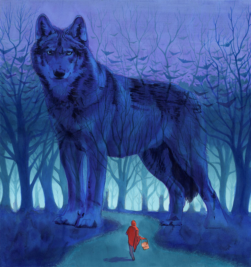 Red Riding Hood Painting  - Red Riding Hood Fine Art Print