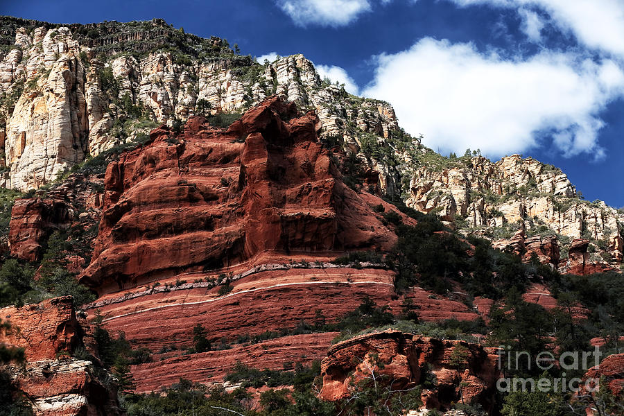 Red Rock At Oak Creek Photograph  - Red Rock At Oak Creek Fine Art Print