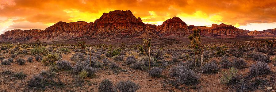 Red Rock Canyon Las Vegas Nevada Fenced Wonder Photograph