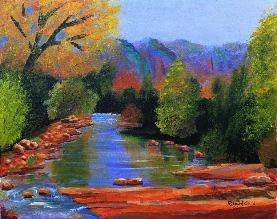 Red Rock Crossing Painting  - Red Rock Crossing Fine Art Print