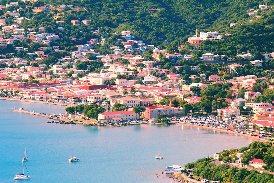 Red Roofs Of Charlotte Amalie Photograph  - Red Roofs Of Charlotte Amalie Fine Art Print