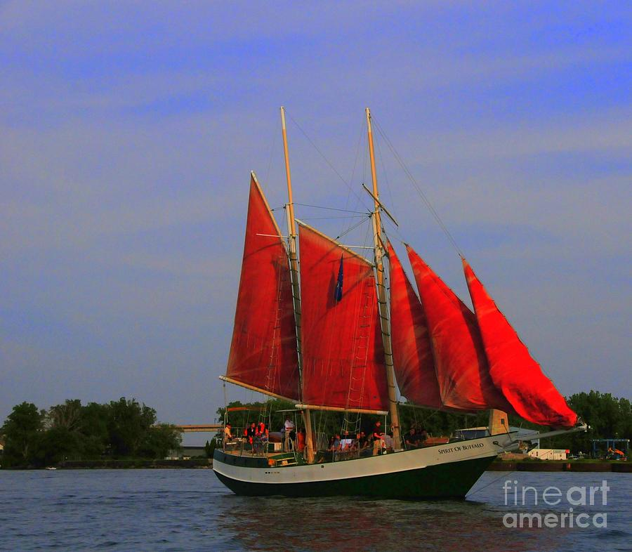 Red Sails Photograph  - Red Sails Fine Art Print