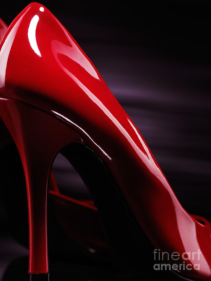 High Heels Photograph - Red Sexy High Heels Abstract by Oleksiy Maksymenko